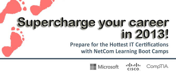 Prepare for the hottest IT certifications with our boot camps